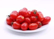 Cherry tomato. In a plate Royalty Free Stock Images