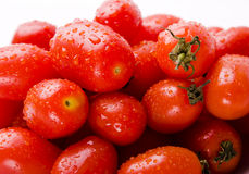 Cherry tomato. With water droplets Stock Photography