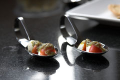 Cherry tomato amuse bouche Stock Photo