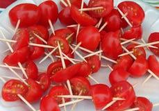 Cherry Tomato Appetizers Imágenes de archivo libres de regalías