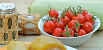 Cherry tomato in a bowl Stock Image