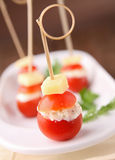 Cherry tomato with cheese Royalty Free Stock Photo