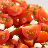 Cherry Tomato with Cheese and Chives Royalty Free Stock Images