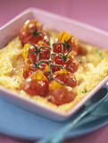 Cherry tomato clafoutis Royalty Free Stock Photos