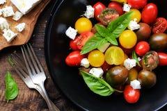 Cherry tomato and feta cheese salad Royalty Free Stock Photo