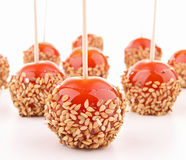 Cherry tomato like toffee apple Royalty Free Stock Photography