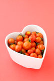 Cherry tomato with love Royalty Free Stock Image
