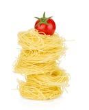 Cherry tomato on pasta Royalty Free Stock Photo