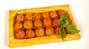 Cherry tomato pie Stock Photography