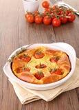 Cherry tomato quiche Stock Photography