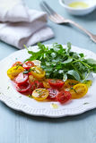 Cherry Tomato and Rocket Salad Stock Photo