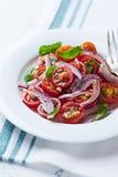 Cherry Tomato Salad con las nueces de pino Imágenes de archivo libres de regalías