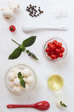 Cherry Tomato Salad Ingredients Imagenes de archivo