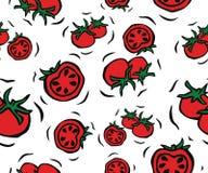 Cherry Tomato Seamless Pattern Royaltyfria Bilder