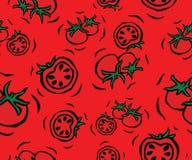 Cherry Tomato Seamless Pattern Imagen de archivo libre de regalías