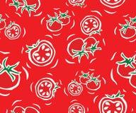 Cherry Tomato Seamless Pattern Imágenes de archivo libres de regalías