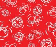 Cherry Tomato Seamless Pattern Stock Photography