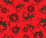 Cherry Tomato Seamless Pattern Royalty Free Stock Image