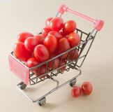 Cherry Tomato on in A Shopping Cart Stock Photography