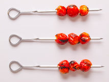 Cherry tomato skewers Stock Images