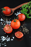 Cherry Tomato and Spice Stock Image