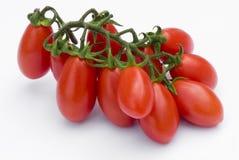 Cherry Tomato su fondo bianco Immagine Stock
