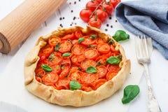 Cherry tomato tart Royalty Free Stock Photography