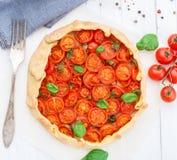 Cherry tomato tart Stock Image