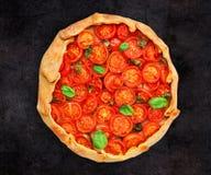 Cherry tomato tart Royalty Free Stock Photo