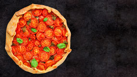 Cherry tomato tart Stock Photo