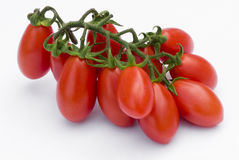Cherry Tomato on white background Stock Image