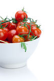 Cherry Tomato in a White Bow Royalty Free Stock Photography