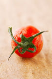 Cherry tomato  on wooden backdrop , shallow DOF Royalty Free Stock Images