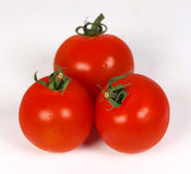 Cherry tomatoes. Ripe tomatoes isolated on white royalty free stock photography