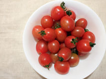 Cherry tomatoes. In a white bowl Stock Image