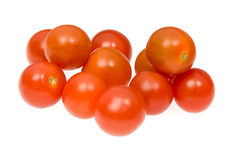 Cherry tomatoes. Photo of cherry tomatoes on white background Royalty Free Stock Photography