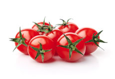 Cherry Tomatoes. Close up of fresh red cherry tomatoes Royalty Free Stock Photos