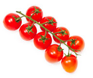 Cherry tomatoes. Isolated on white background Stock Photography