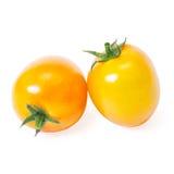 Cherry tomatoes. On white background Stock Photos