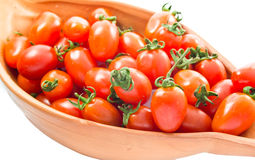 Cherry tomatoes. Small cherry tomatoes in the bowl stock images