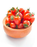 Cherry tomatoes. Small cherry tomatoes in the bowl stock image