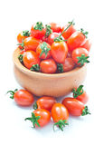 Cherry tomatoes. Small cherry tomatoes in the bowl stock photo