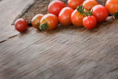 Cherry tomatoes background Royalty Free Stock Photos