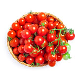 Cherry tomatoes in a basket Stock Image