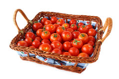 Cherry tomatoes basket Stock Image