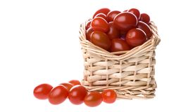 Cherry Tomatoes in Basket Royalty Free Stock Photo
