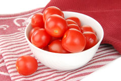 Cherry tomatoes in a bowl Stock Images