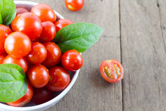 Cherry tomatoes a bowl Stock Image