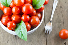Cherry tomatoes a bowl Royalty Free Stock Photo