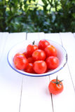 Cherry tomatoes in bowl Stock Photography
